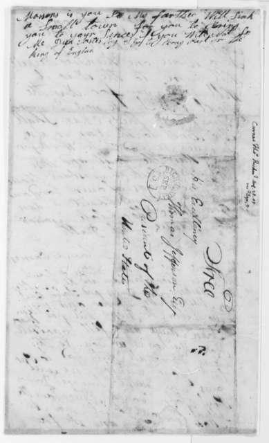 Thomas Carnes to Thomas Jefferson, August 28, 1805