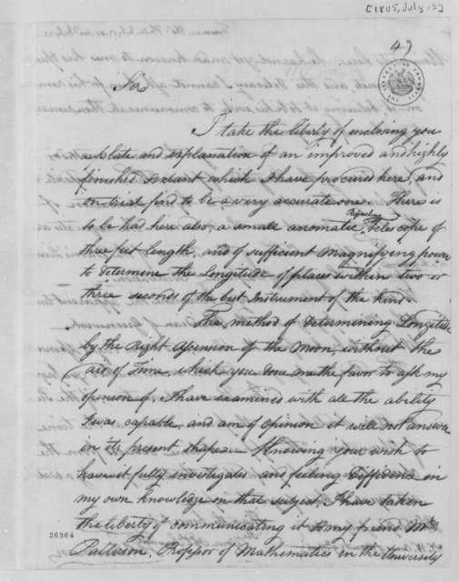 Thomas Freeman to Thomas Jefferson, July 13, 1805