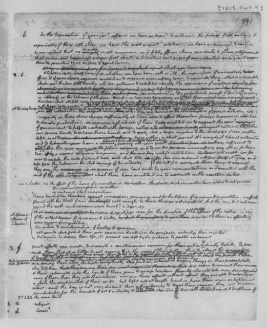 Thomas Jefferson, March 4, 1805, Draft of Second Inaugural Address