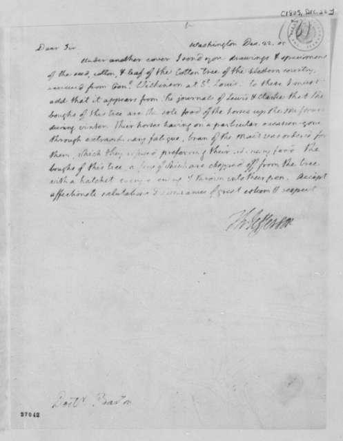 Thomas Jefferson to Benjamin Smith Barton, December 22, 1805