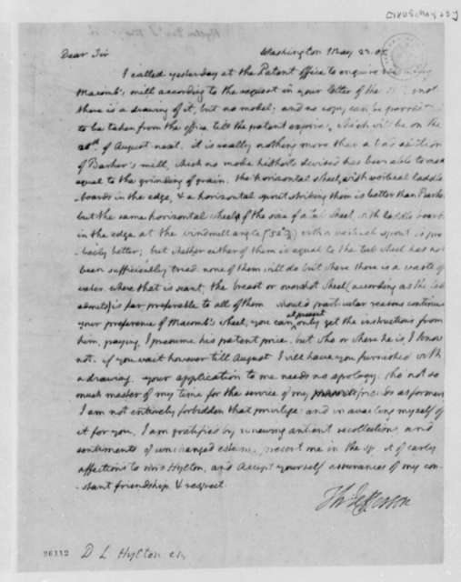 Thomas Jefferson to Daniel L. Hylton, May 23, 1805