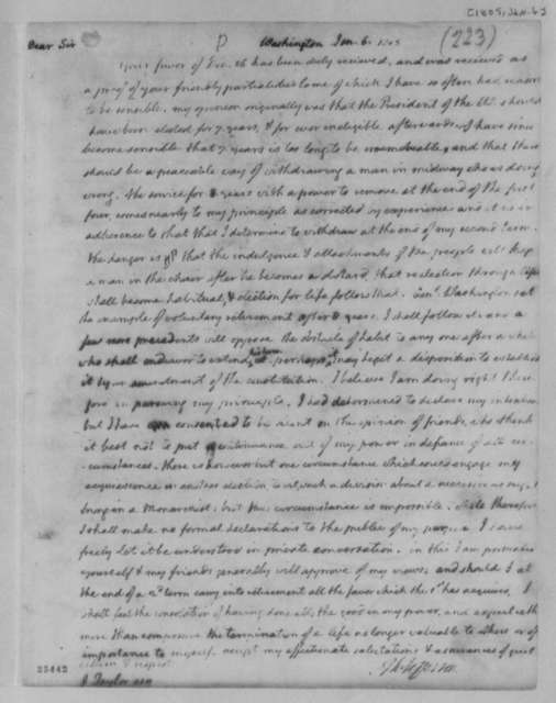 Thomas Jefferson to John Taylor, January 6, 1805