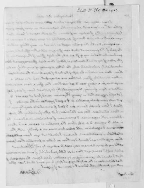 Thomas Jefferson to Thomas Ewell, October 28, 1805