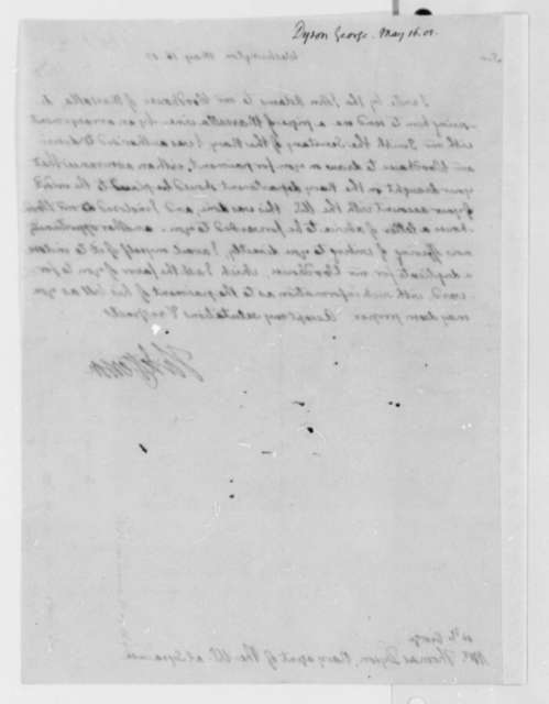 Thomas Jefferson to Thomas George Dyson, May 16, 1805, with Copy