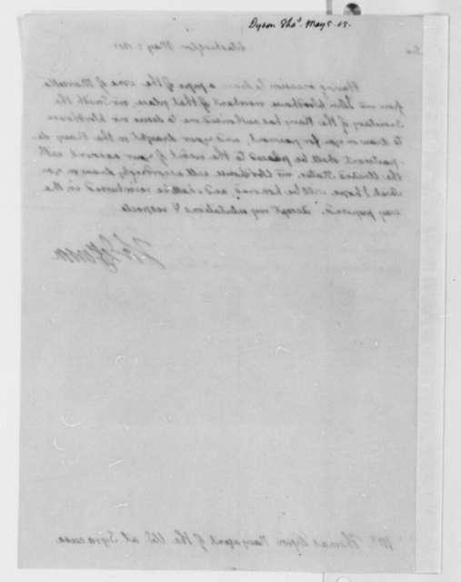 Thomas Jefferson to Thomas George Dyson, May 5, 1805
