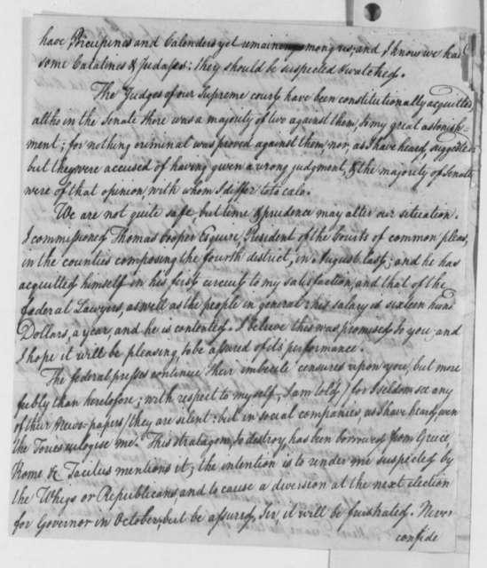 Thomas McKean to Thomas Jefferson, February 18, 1805