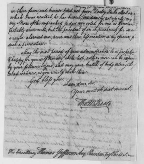 Thomas McKean to Thomas Jefferson, February 18, 1805