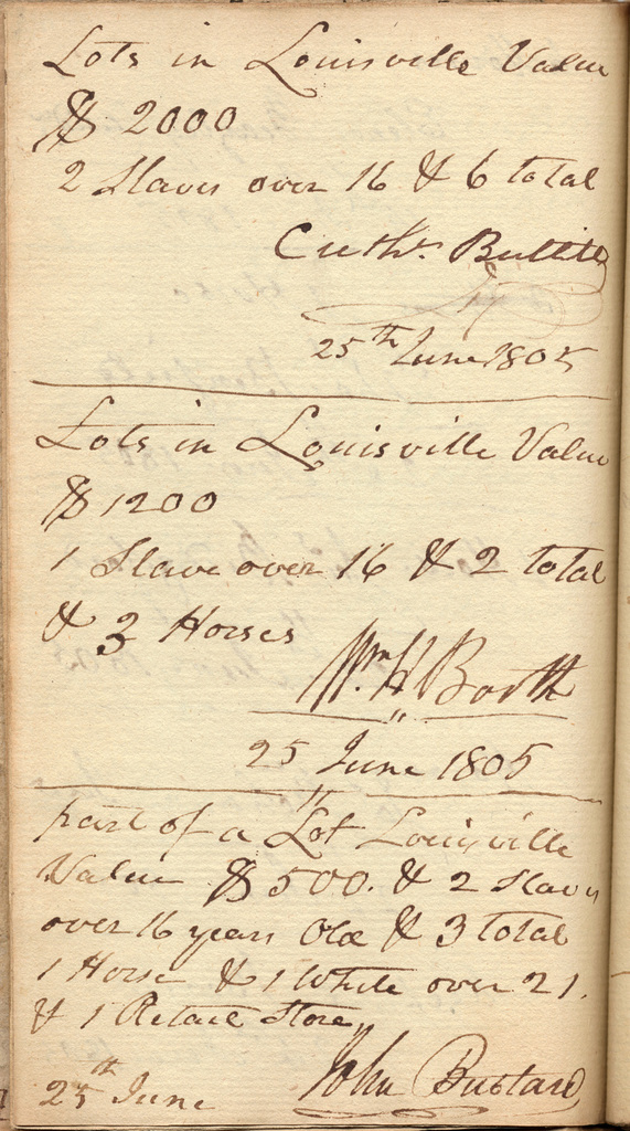 Vouchers for the year 1805