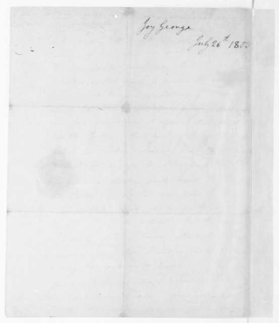 W. Scott, July 23, 1805. Decree- Docket for the Admiralty Court of Great Britian. Dated July 26, by George Joy.