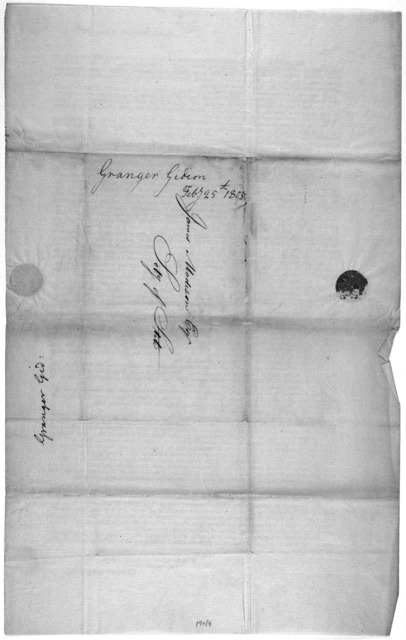 Washington City, February 25th, 1805. Sir. My sole object in addressing to Congress my letter of the first of the present month was to gain an opportunity of refuting the charges and insinuations which had been made against me ... Gideon Granger