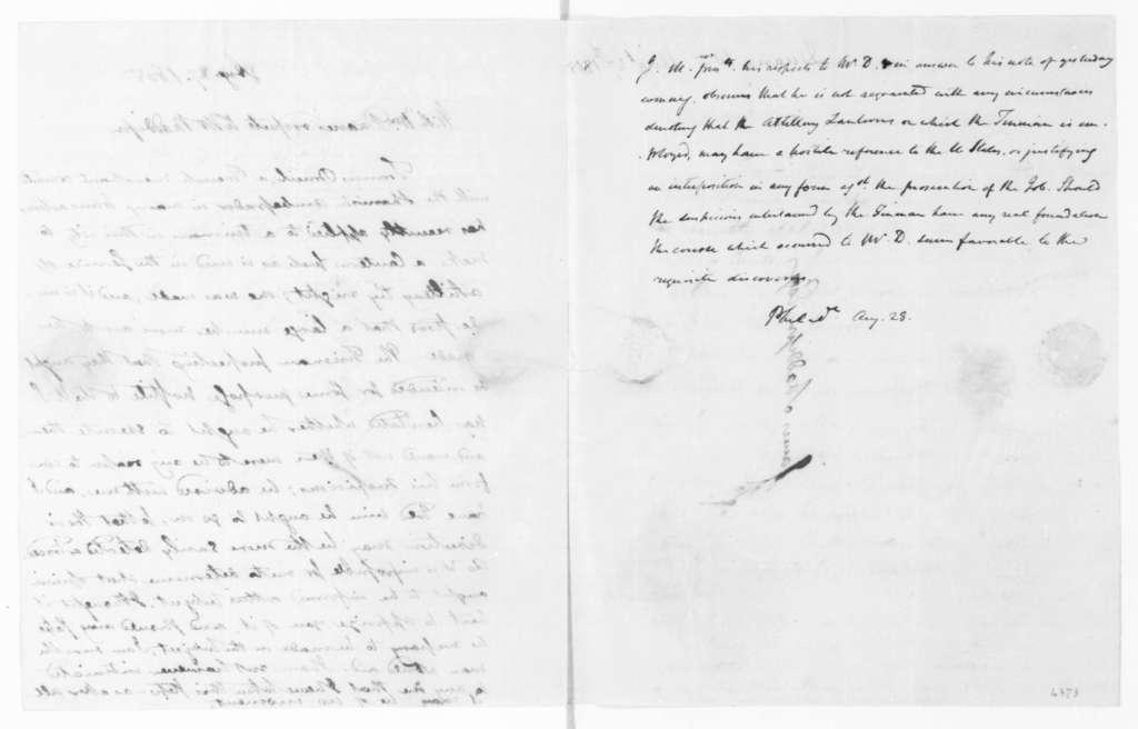 William Duane to James Madison, August 27, 1805.