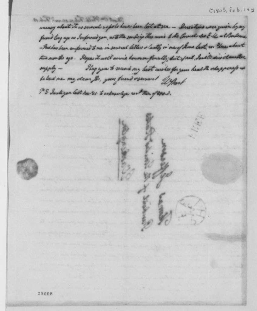 William Short to Thomas Jefferson, February 14, 1805