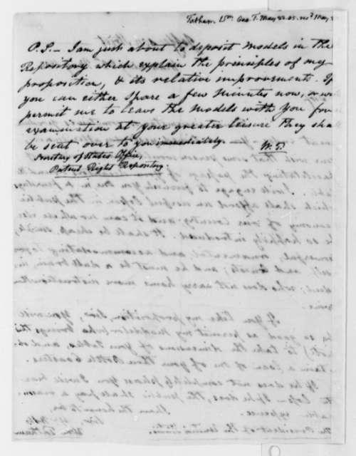 William Tatham to Thomas Jefferson, May 22, 1805