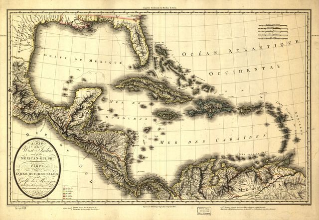 A map of the West Indies and of the Mexican-Gulph [sic].