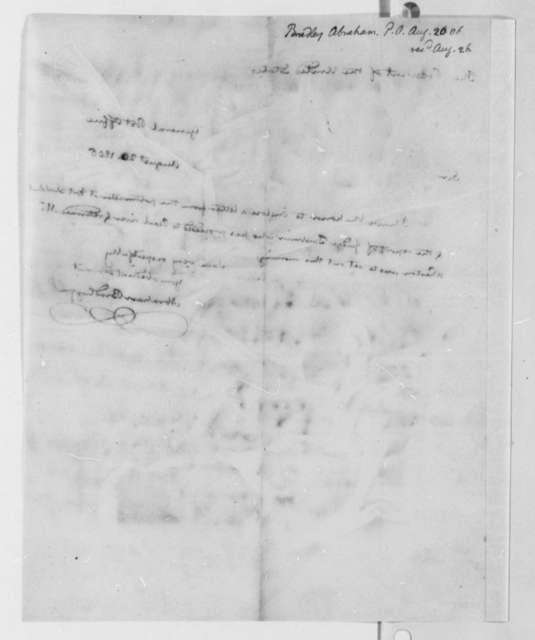 Abraham Bradley, Jr. to Thomas Jefferson, August 20, 1806