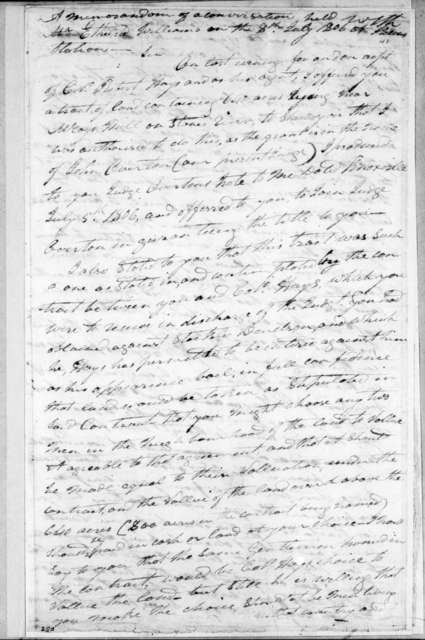 Andrew Jackson to Ethelred Williams, July 8, 1806