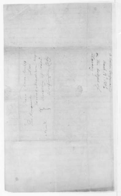 Anonymous to James Madison, March 13, 1806. Signed Western Virginian.