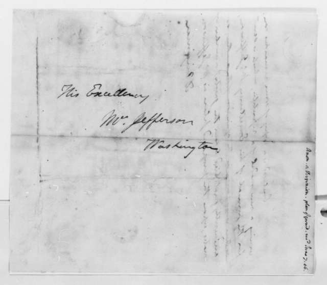Anonymous to Thomas Jefferson, June 7, 1806, Signed A Virginian