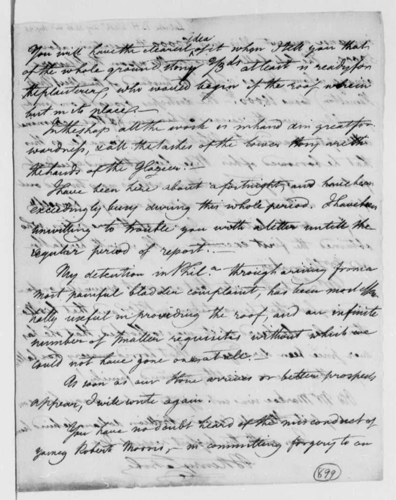 Benjamin H. Latrobe, Surveyor of the Public Buildings to Thomas Jefferson, August 14, 1806