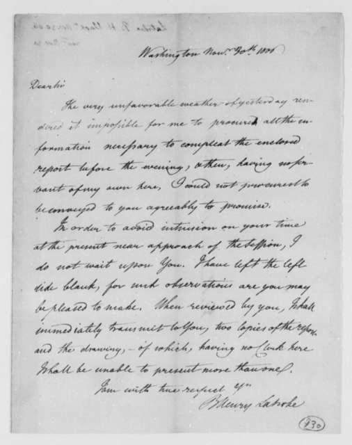 Benjamin H. Latrobe, Surveyor of the Public Buildings to Thomas Jefferson, November 30, 1806