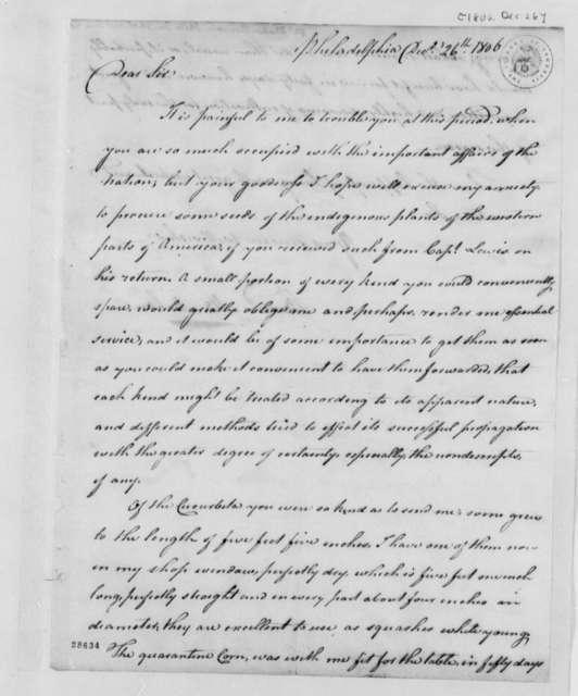 Bernard McMahon to Thomas Jefferson, December 26, 1806