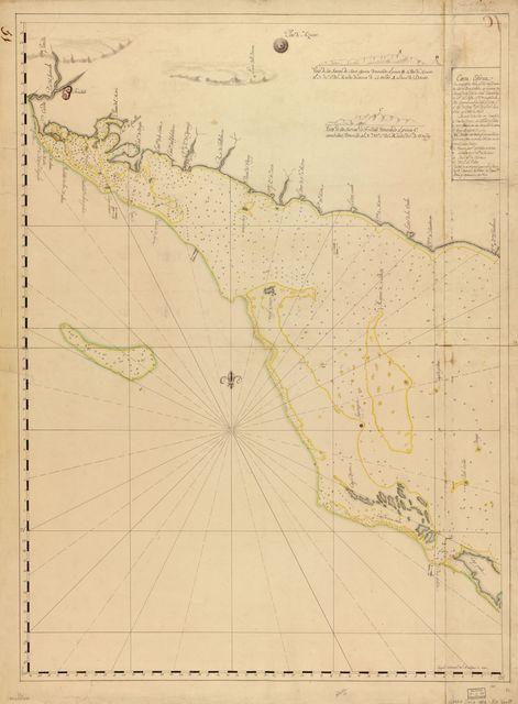 Carta esférica que comprende desde el Río del Guanabo hasta Boca Grande en la parte meridional de la ysla de Cuba /