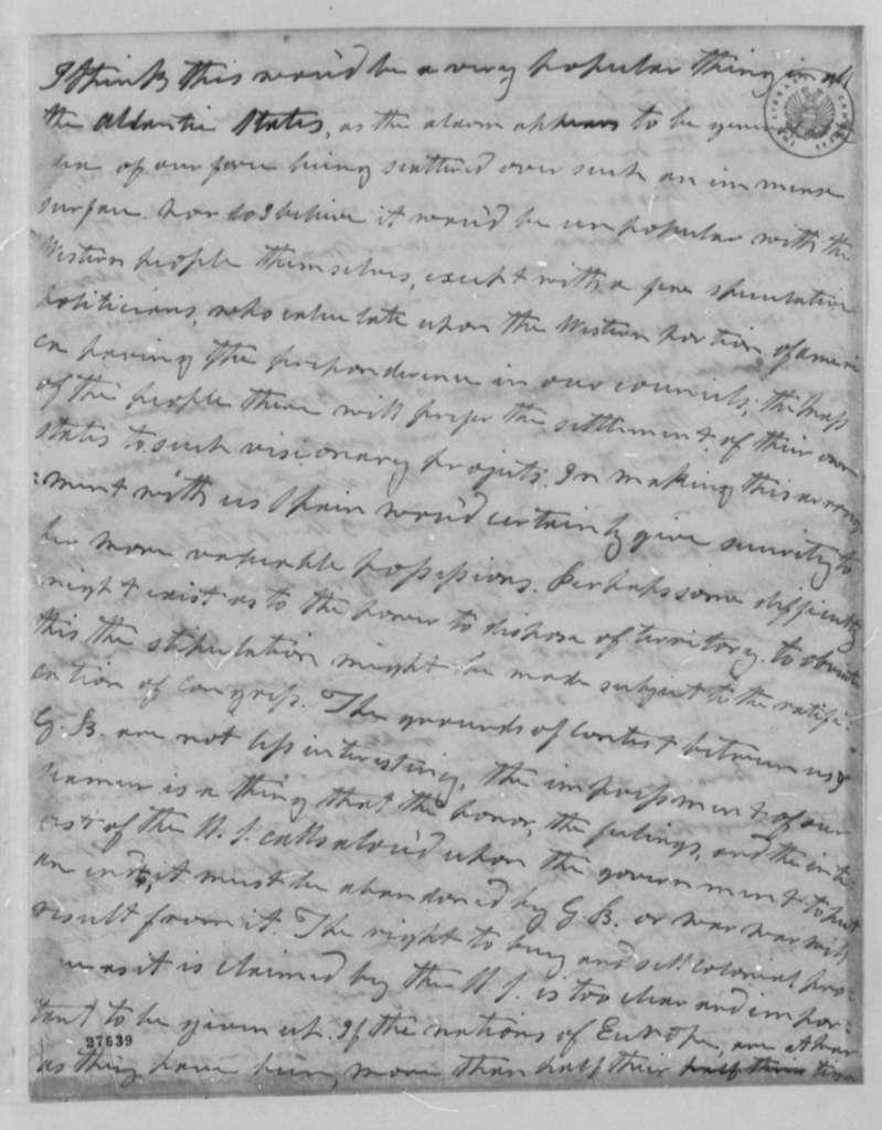 Cary Nicholas Wilson to Thomas Jefferson, April 2, 1806