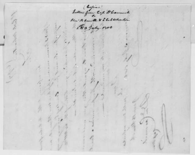 Daniel Carmick to Franklin Wharton, July 3, 1806
