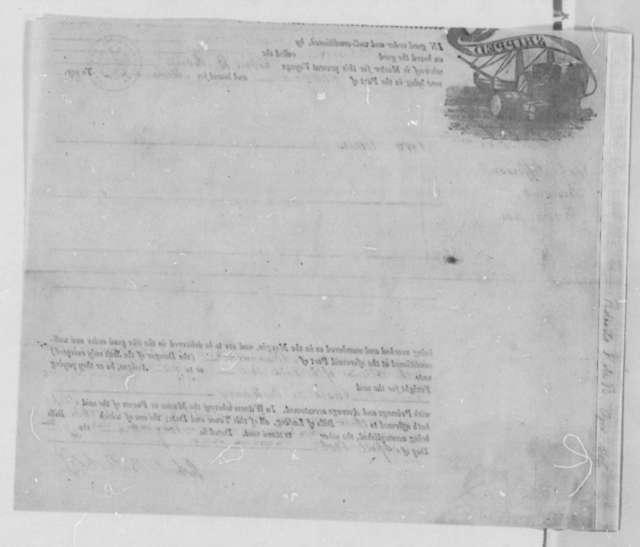 David Gelston to Thomas Jefferson, April 7, 1806, Bill of Lading