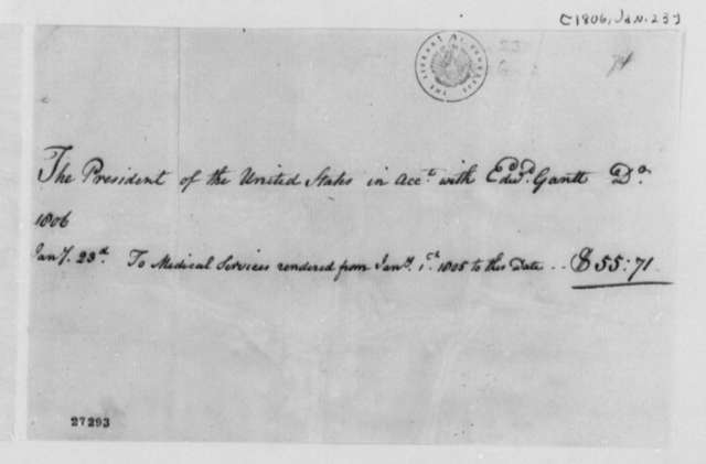 Edward Gantt to Thomas Jefferson, January 23, 1806