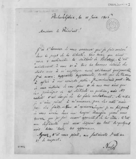 Francis Joseph Nicholas Neef to Thomas Jefferson, June 10, 1806, in French