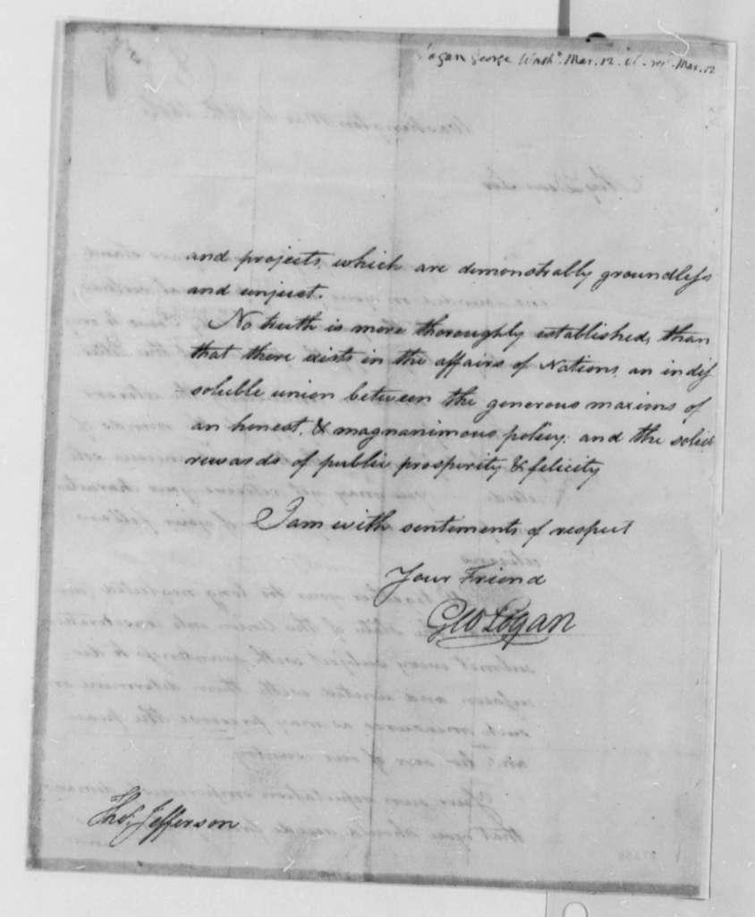 George Logan to Thomas Jefferson, March 12, 1806