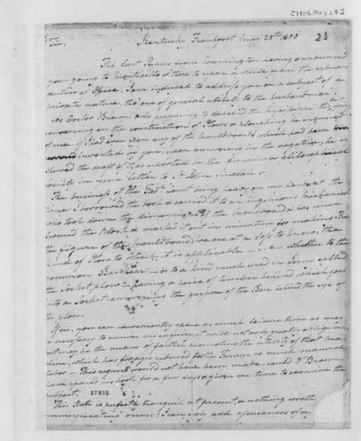 Harry Innes to Thomas Jefferson, May 25, 1806