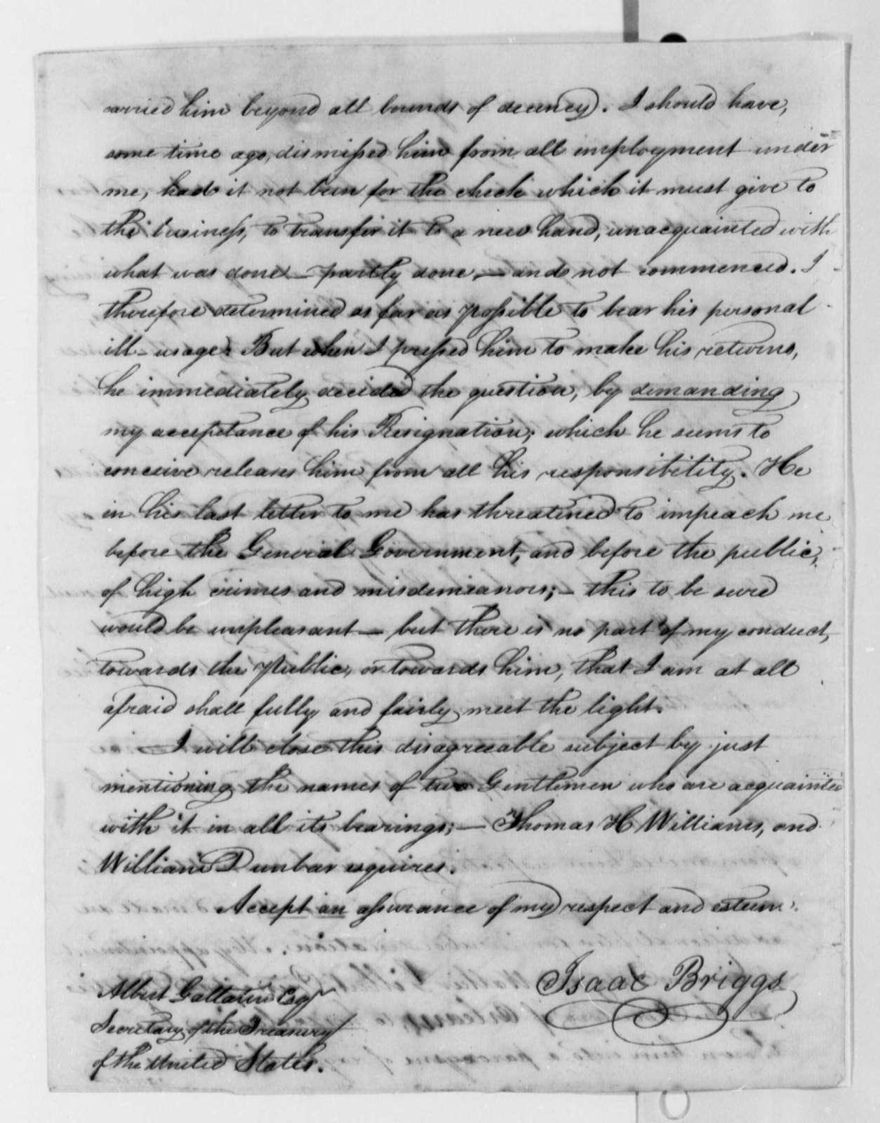 Isaac Briggs to Albert Gallatin, September 20, 1806