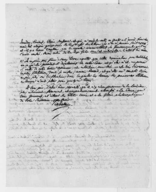 J. Philip Reibelt to Thomas Jefferson, February 3, 1806, in French