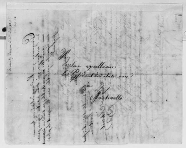 Jacques Schmitz to Thomas Jefferson, September 12, 1806, in French