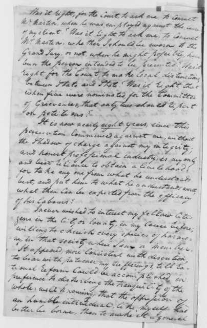 James Ash to Baltimore Attorneys, May 9, 1806