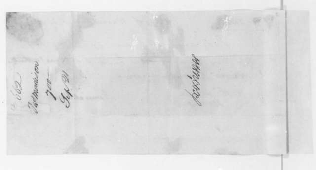 James Madison to John Cox, July 23, 1806. Promissory Note.