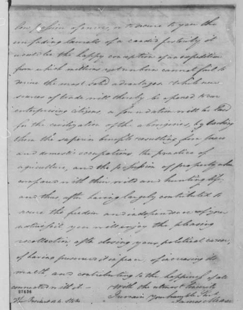 James Mease to Thomas Jefferson, April 1, 1806