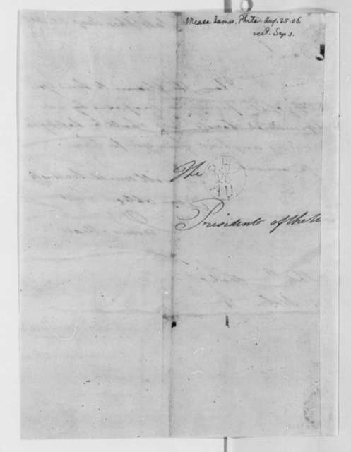 James Mease to Thomas Jefferson, August 25, 1806