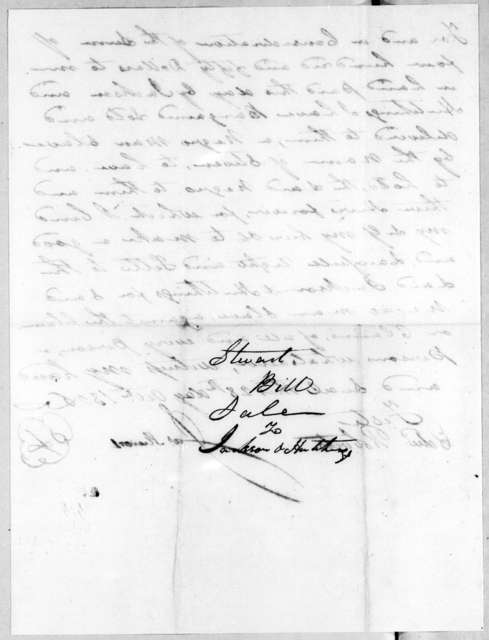 James Stewart to Jackson & Hutchings, October 28, 1806
