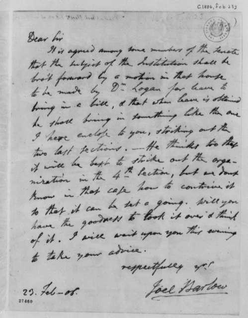 Joel Barlow to Thomas Jefferson, February 23, 1806