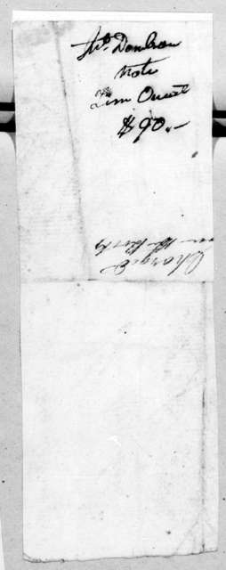 John Donelson to Timothy Oneal, November 24, 1806