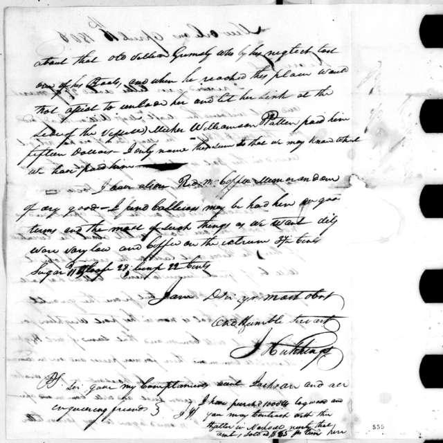 John Hutchings to Andrew Jackson, April 16, 1806