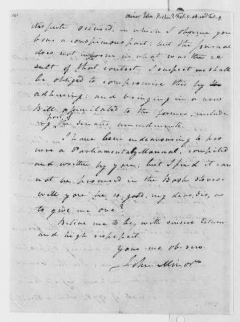 John Minor to Thomas Jefferson, February 5, 1806