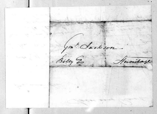John Overton to Andrew Jackson, March 4, 1806