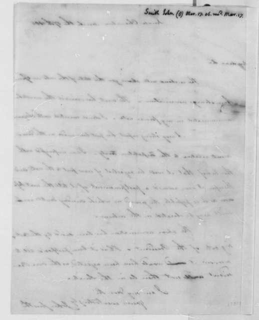 John Smith to Thomas Jefferson, March 17, 1806, with List