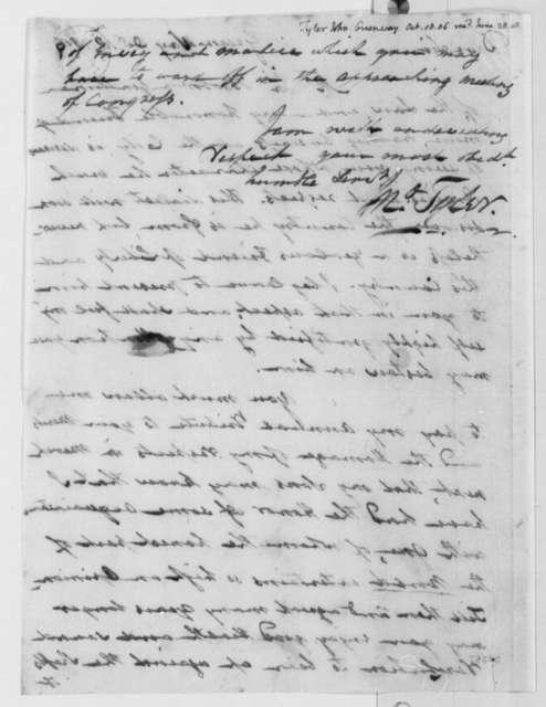 John Tyler to Thomas Jefferson, October 18, 1806