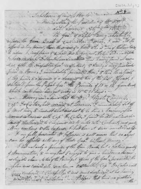 Joseph Barnes to Thomas Jefferson, July 7, 1806