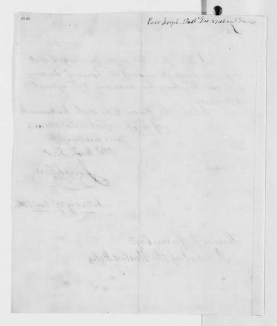 Joseph Kerr to Thomas Jefferson, December 27, 1806